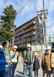 Green building tour for Earth Day at King Edward Villa in Vancouver, B.C. April 13, 2016.  Photo: Stephen Hui, Pembina Institute. http://www.pembina.org/